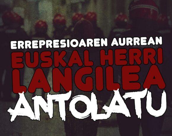 JARKI-k Donostian errepresioaren aurka martxan jarritako kanpainaren agiria