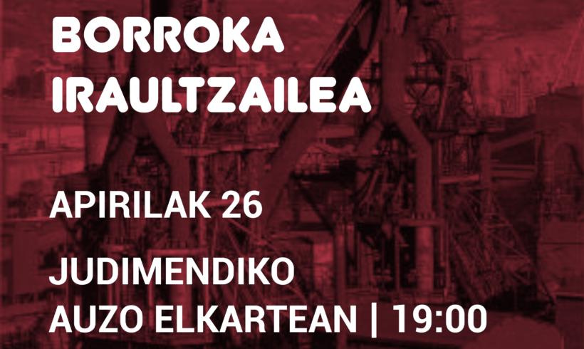 """Hitzaldia: """"Euskal Herri Langilea eta borroka iraultzailea"""""""