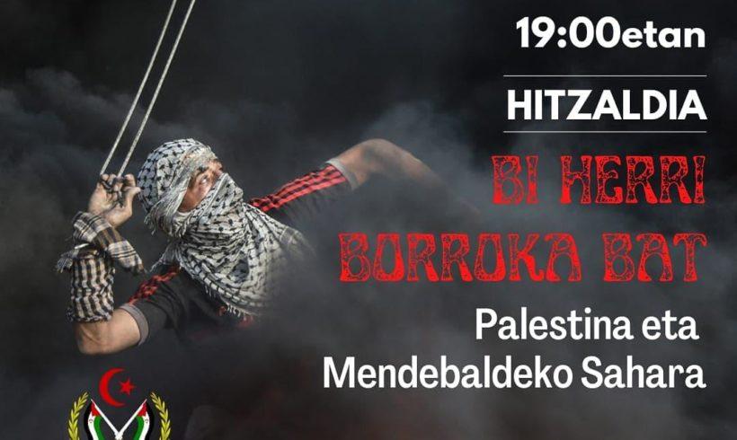 Hitzaldia: Bi herri borroka bat – Palestina eta Mendebaldeko Sahara