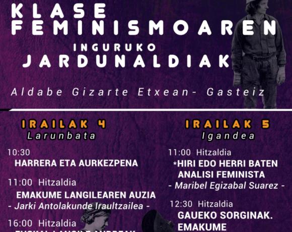 La Haine-tik JARKI antolakundeko emakume militanteekin elkarrizketa egin dute klase feminismoko jardunaldien harira