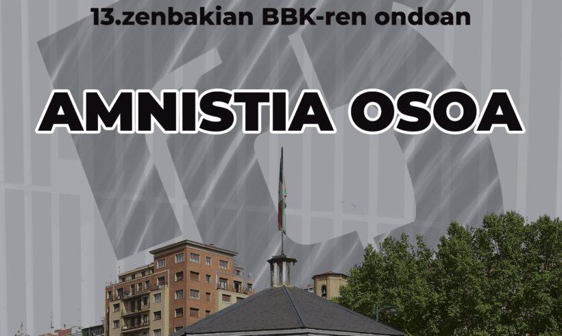 Amnistiaren aldeko kontzentrazioa Deustun