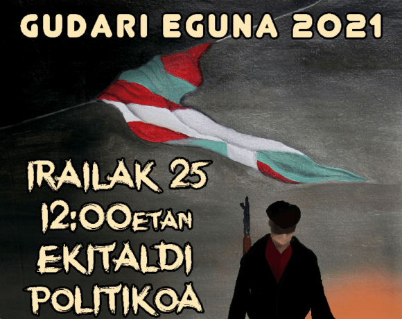 JARKI-k 2021eko Gudari Egunaren harira antolatutako ekitaldian irakurritako agiria